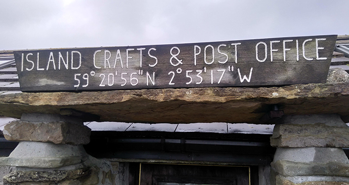 Shop sign Papa Westray Orkney by Mark Rowe