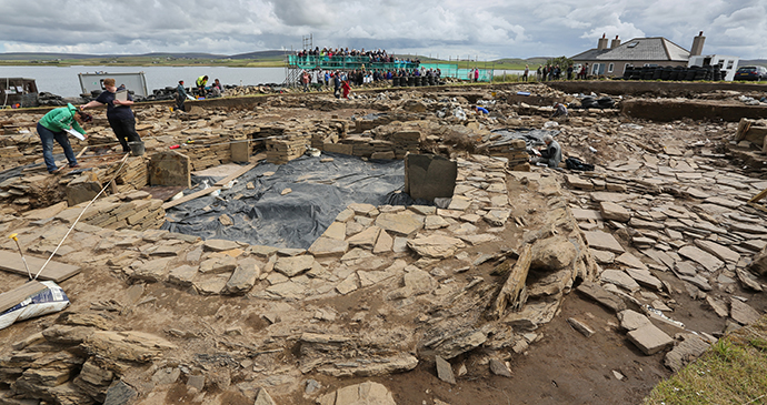 Ness of Brodgar Neolithic Orkney by Orkney.com archaeological sites orkney