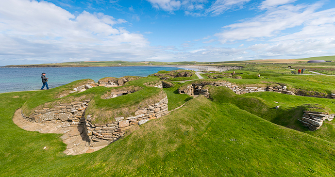 Skara Brae the Mainland Orkney Scotland by Kenny Lam, VisitScotland archaeology orkney