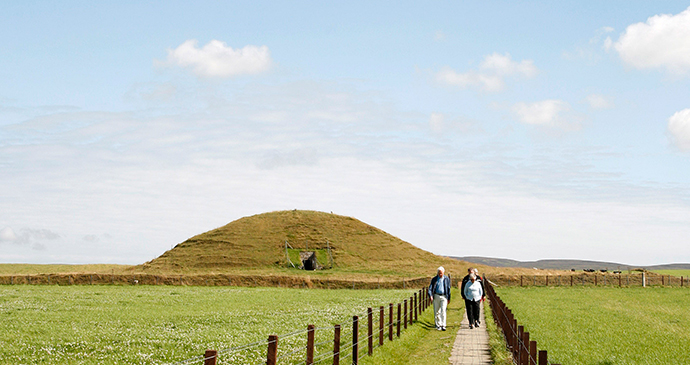Maeshowe chambered cairn the Mainland Orkney by Kenny Lam, VisitScotland archaeology orkney