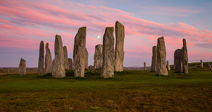 Callanish standing stones Lewis Outer Hebrides Scotland UK by