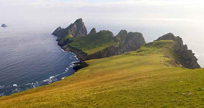 St Kilda Outer Hebrides Scotland UK by Corlaffra, Shutterstock
