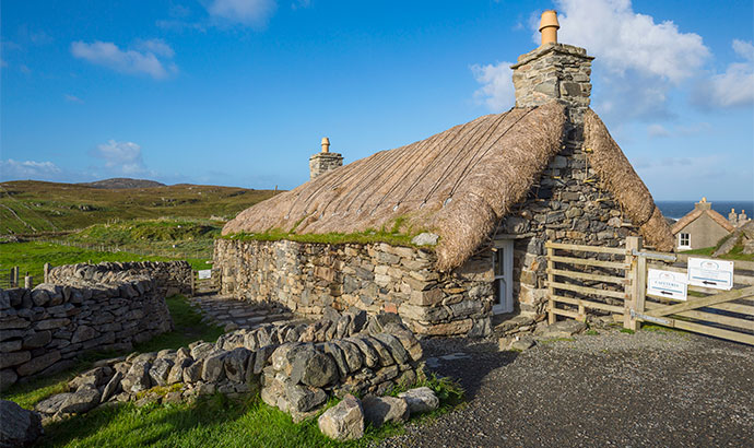 Na Geàrrannan blackhouses Outer Hebrides Scotland by VisitScotland/Kenny Lam