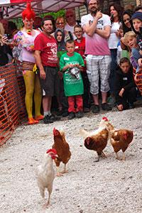 World Hen Racing Championship, Peak District, British Isles by Richard Bradley