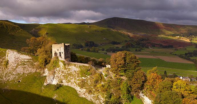 Peveril Castle Peak District UK by Glyn Swanson Shutterstock