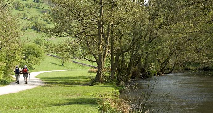 Walking Dovedale Peak District UK by David Hughes, Shutterstock