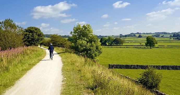 Tissington Cycle Trail Peak District UK David Hughes, Shutterstock