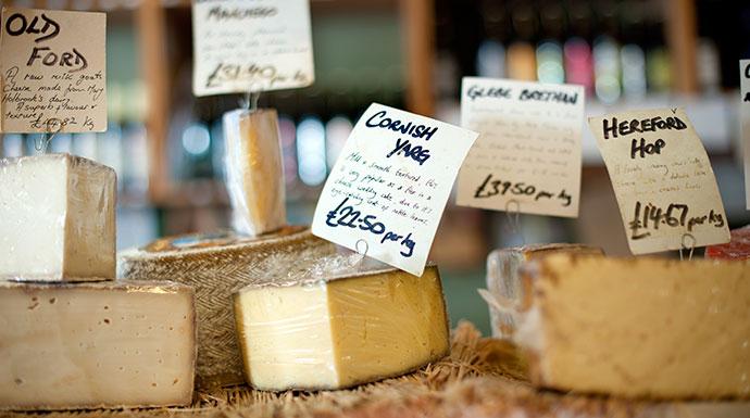Cornish yarg cheese Shropshire UK by Shropshire Town Council