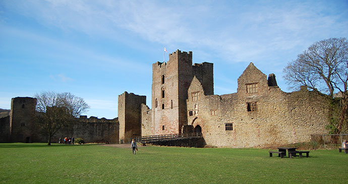 Ludlow Castle Shropshire Hugh Collins