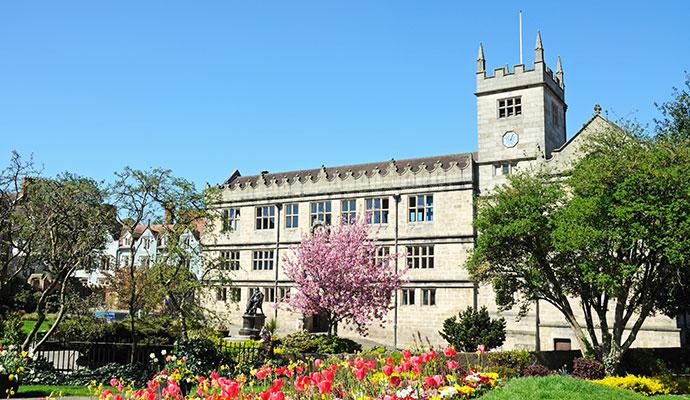 Castle Gate Library Shrewsbury Shropshire UK by Arena Photo UK Shutterstock