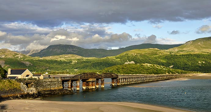 Barmouth Viaduct Wales UK by Kevin Eaves Shutterstock