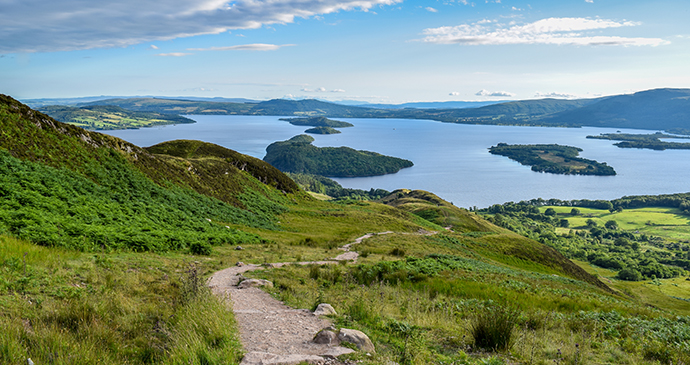 View from Conic Hill over Loch Lomond by Andrew Magee, Flickr