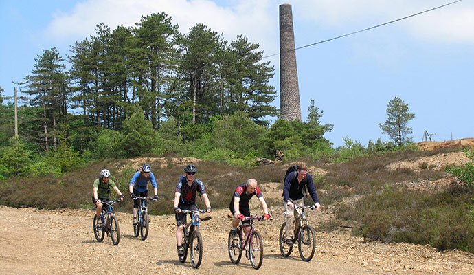 Cyclists, Tamar Valley, South Devon by Tamar Valley AONB