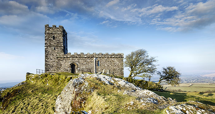 Brentor, Dartmoor Devon England by Helen Hoston Shutterstock