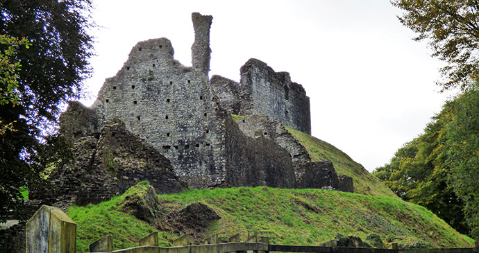 Okehampton Castle, Okehampton, South Devon by Leigh (Bella) St John