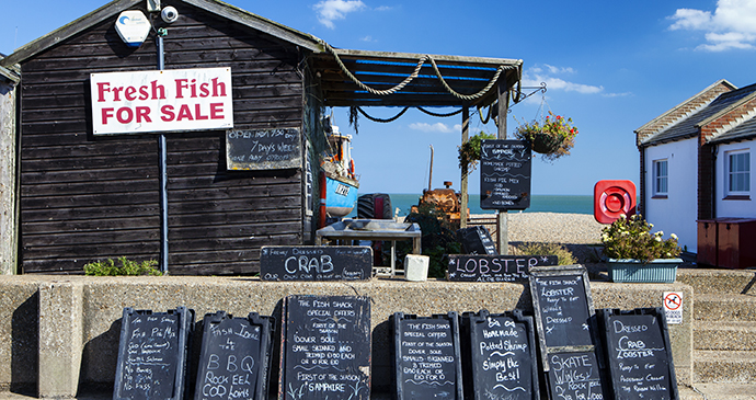 Seafood at Aldeburgh by Magdanatka, Shuttestock