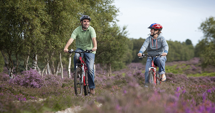 Cycling on Dunwich Heath by dedhamvalestourvalley.org