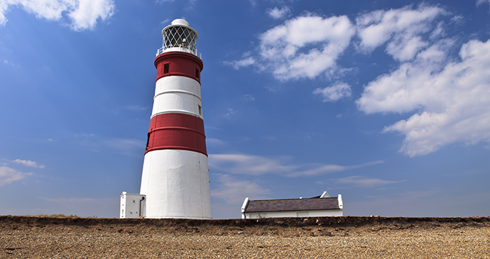 The Orford Ness lighthouse by Richard Bowden, Shutterstock