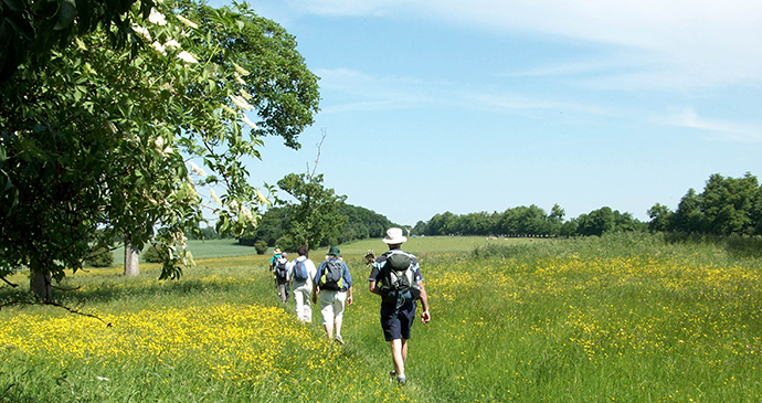Walkers on The Stour Valley Path in Suffolk by dedhamvalestourvalley.org