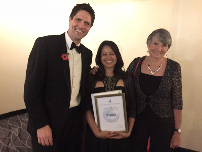 Adrian, Hilary and Jini Reddy at the BGTW Awards 2017
