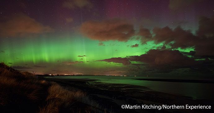 Aurora borealis northern lights Northumberland UK by Martin Kitching northern experience
