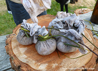 Dumplings outdoor cookery Wild Times by © Rosie Hazelton/Wild Rose Escapes