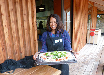Pizza earth oven River Cottage UK Wild Times by Jini Reddy