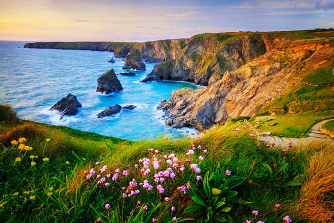 Bedruthan Steps Cornwall The Wilderness Cookbook by Lukasz Pajor Shutterstock