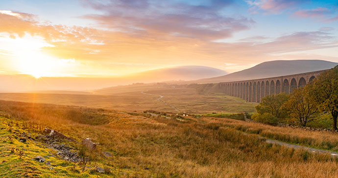 Sunrise Pen-y-ghent Yorkshire Dales by Yorkshire Dales National Park Authority