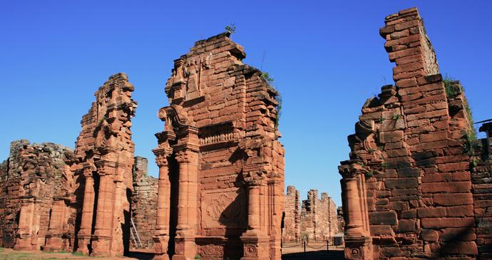 Jesuit ruins, San Ignacio Miní, Argentina by diegorayaces, Shutterstock
