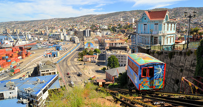 Ascensor Valparaiso Chile by flocu, Shutterstock