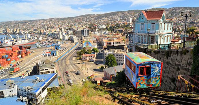 Ascensor Valparaiso Chile by flocu, Shutterstock