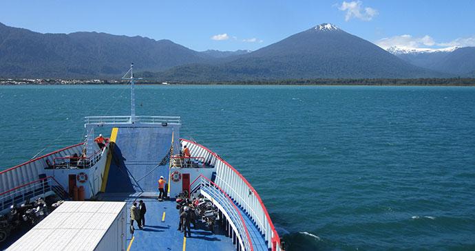 Ferry, Comau Fjord, Carretera Austral, Chile by Hugh Sinclair