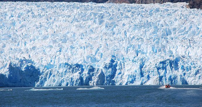 Glacier, Ventisquero San Rafael, Carretera Austral, Chile by Hugh Sinclair