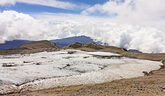 Nevado del Ruiz volcano in Los Nevados National Park Colombia by Toniflap, Shutterstock