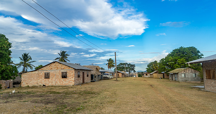 Amerindian village Guyana by Gail Johnson Shutterstock