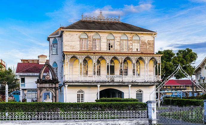 Colonial building Georgetown Guyana by Anton Ivanov, Shutterstock
