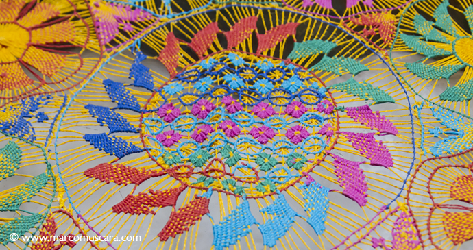 Nanduti lace Itagua Paraguay handicraft Marco Muscara