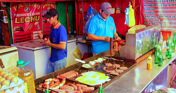 Food,stall mercado Asuncion , Paraguay by Don Mammoser, Shutterstock