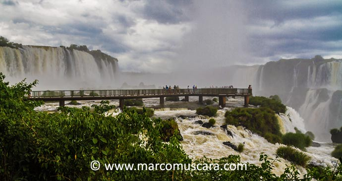Iguazu Falls Paraguay South America by Marco Muscara