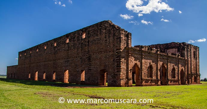 Ruins of Jesus Paraguay South America by Marco Muscara
