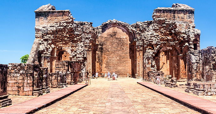 Trindiad ruins Paraguay by Matyas Rehak Shutterstock