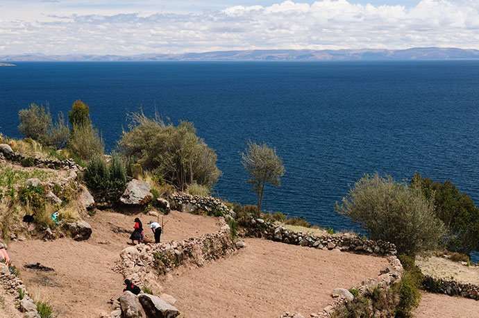 Lake Titicaca Peru by Rafal Cichawal Shutterstock most spectacular lakes in the world