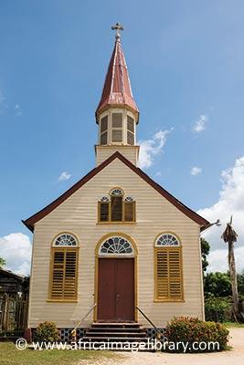 Wooden church Paramaribo Suriname by Ariadne Van Zandbergen