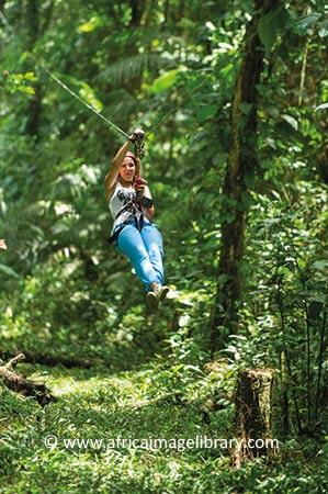 Ziplining Berg En Dal Suriname by Ariadne Van Zandbergen