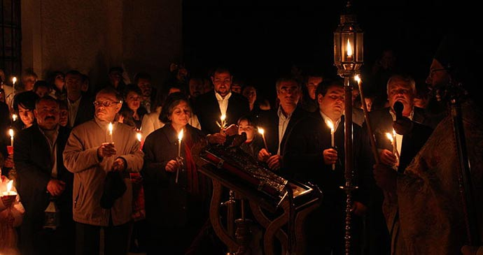 Easter Sunday Greek Orthodox  Peloponnese Greece Europe by Yarl Wikimedia Commons