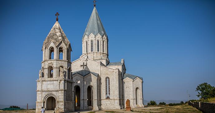 Ghazanchetsots Cathedral Shushi Nagorno Karabagh Armenia by shoolandia, Shutterstock