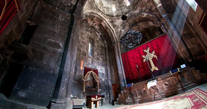 Geghard Monastery Armenia by Adrian Cahn