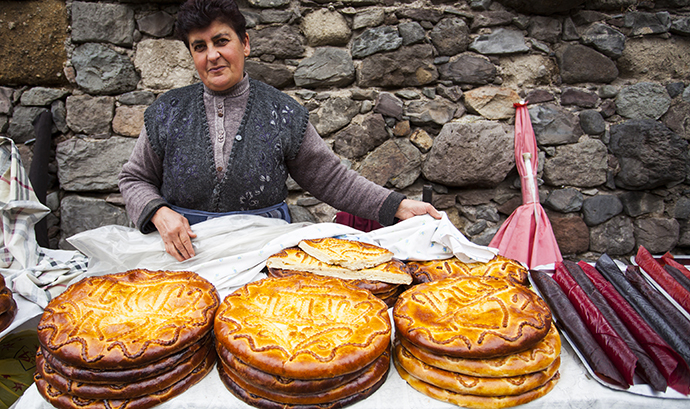 Gata sweet bread Geghard Monastery Armenia © yug, Shutterstock