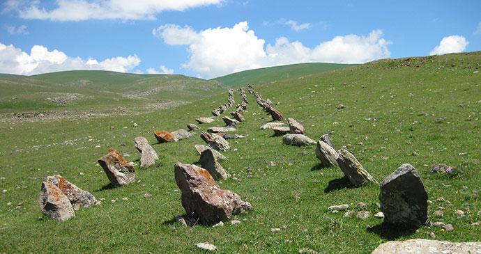 Zuygaghbyur megaliths Hartashen Armenia by Deirdre Holding